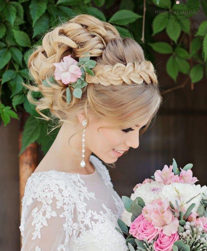Причёски для девочек на свадьбу собранные