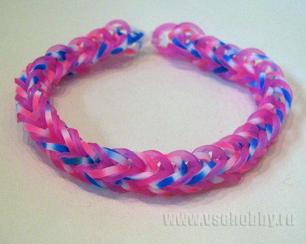 Плетение простых браслетов на резинке