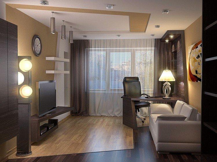 Варианты дизайна однокомнатной квартиры 40 кв м