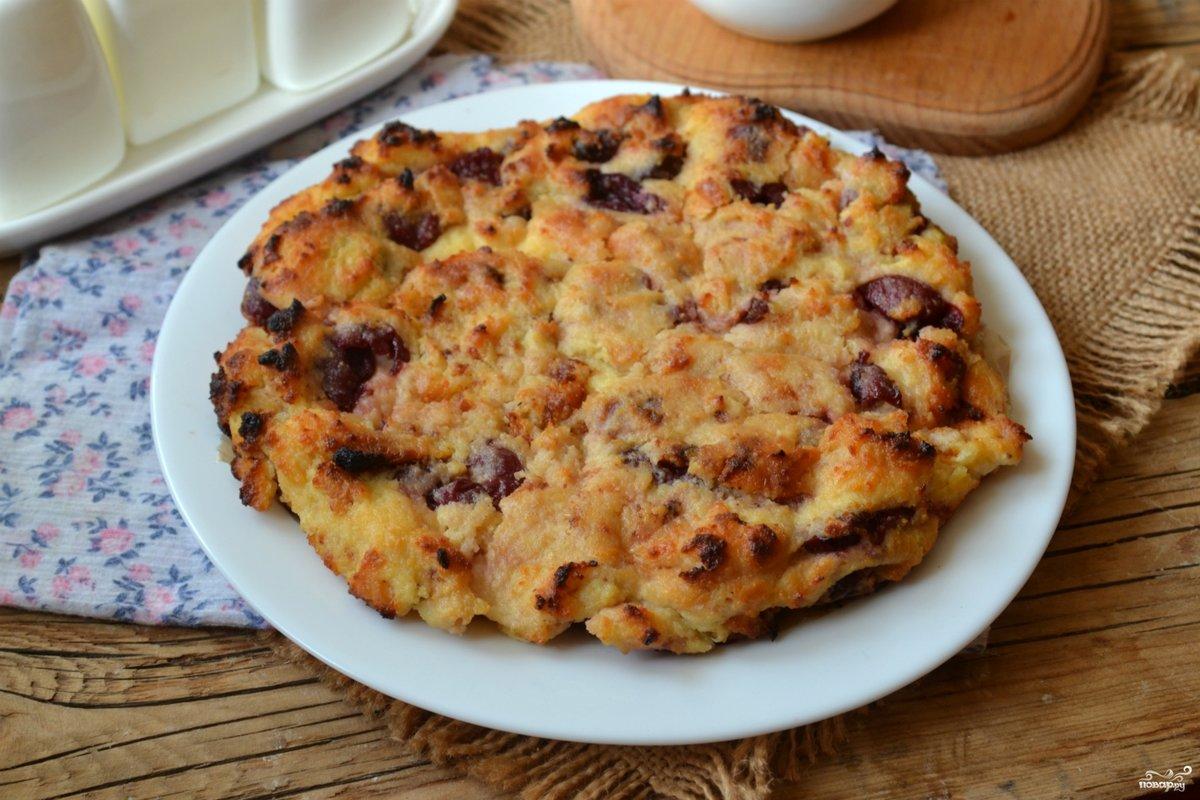 Пирог творожный с вишней рецепт пошагово