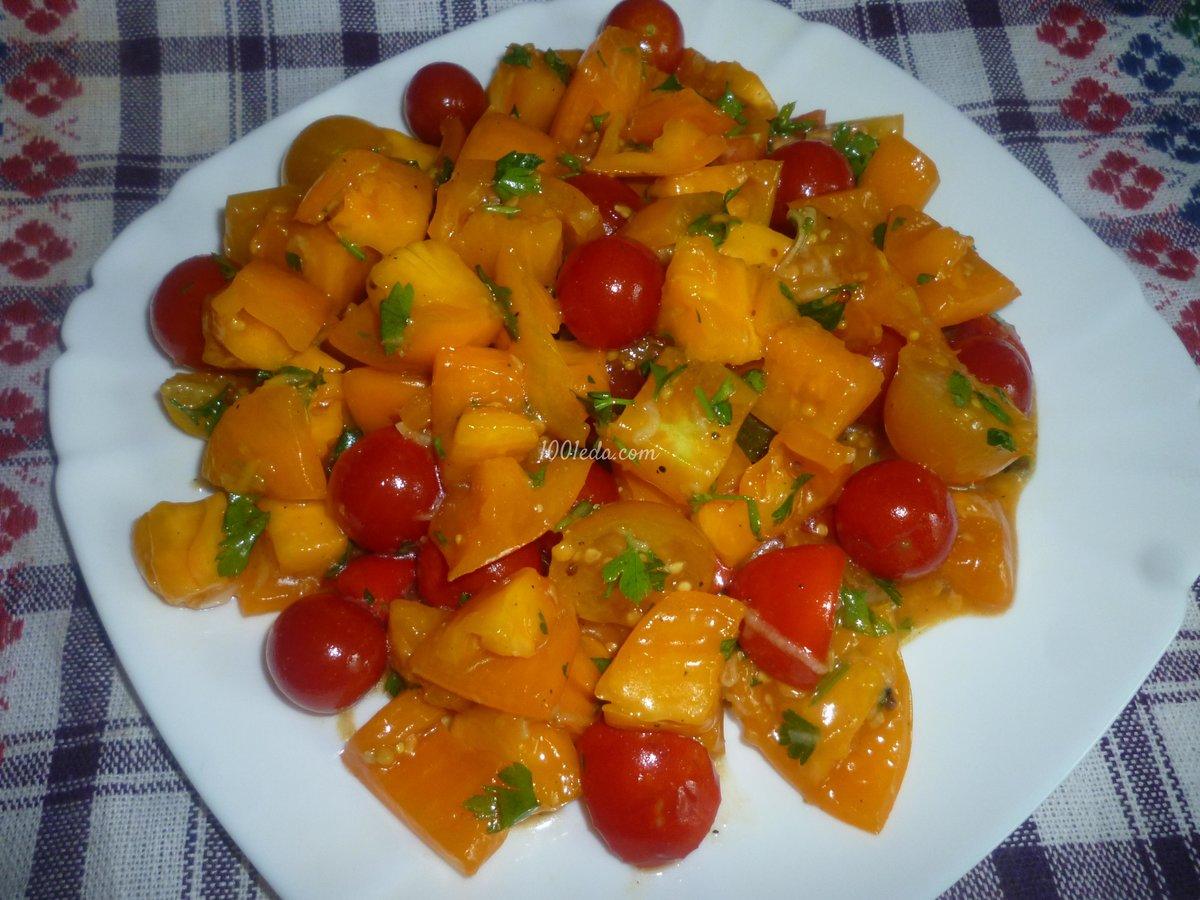 Салат из помидор с пошаговым