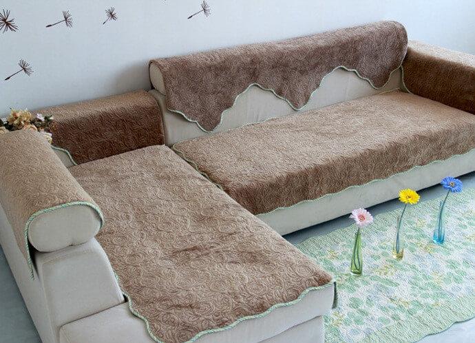Покрывало на угловой диван своими руками с фото 519