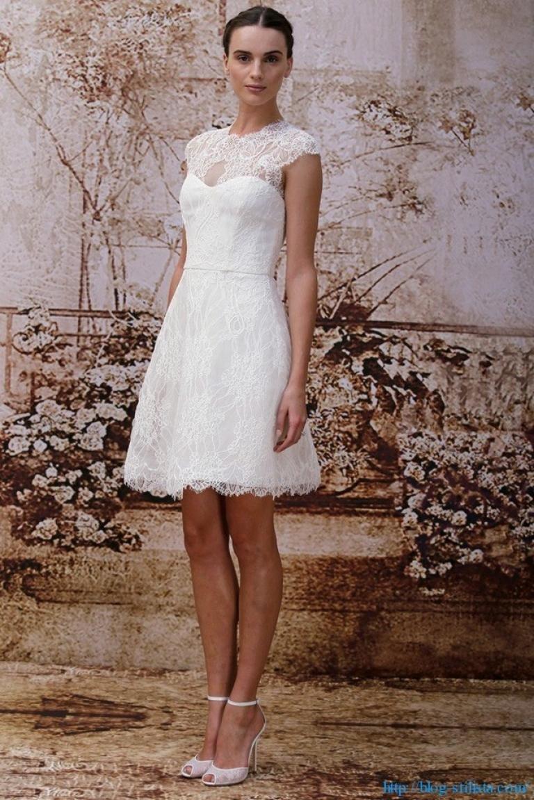 Фото коротких платьев для свадьбы