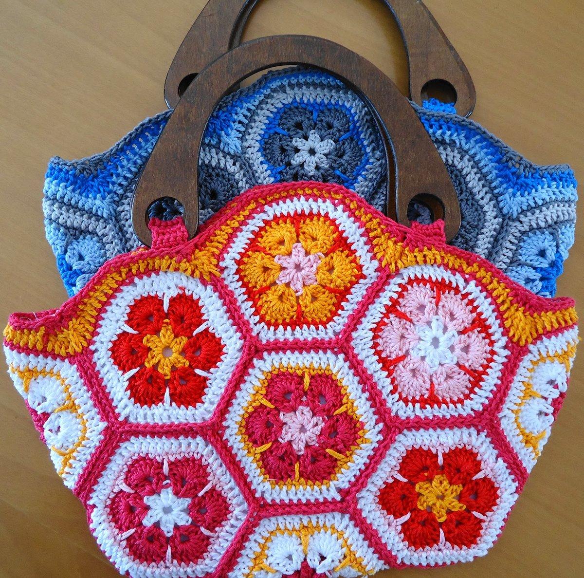 Вязание сумок из мотивов 476