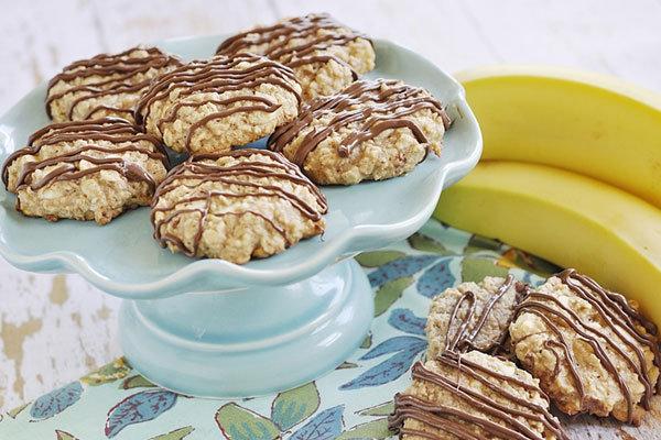 Печенье из банана исяных хлопьев 48