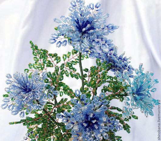 Все синие цветы из бисера 12