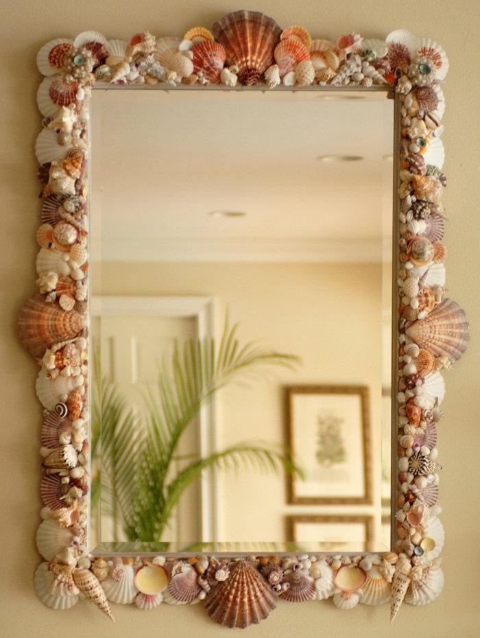 Рамки для зеркало ванной своими руками