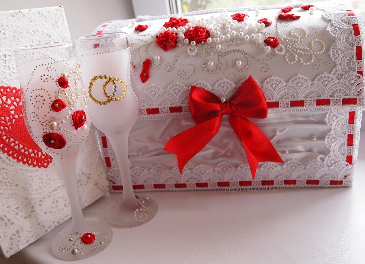 Для свадьбы своими руками бело-красного цвета 649