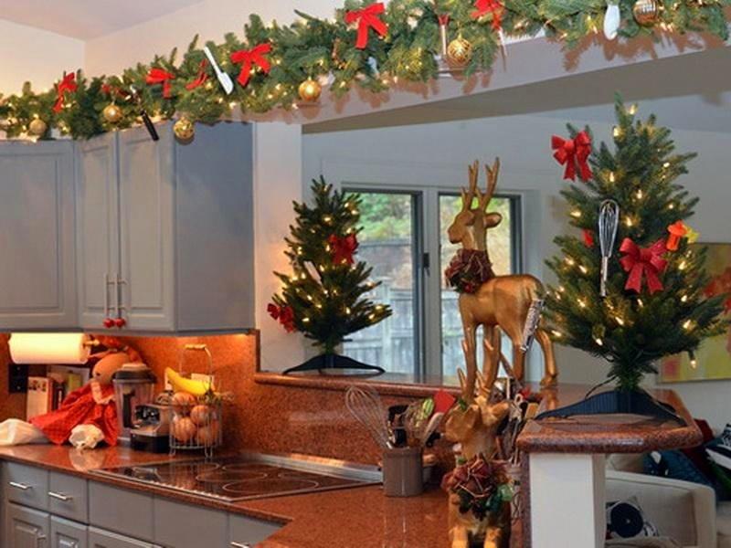 Украсить кухню на новый год своими руками