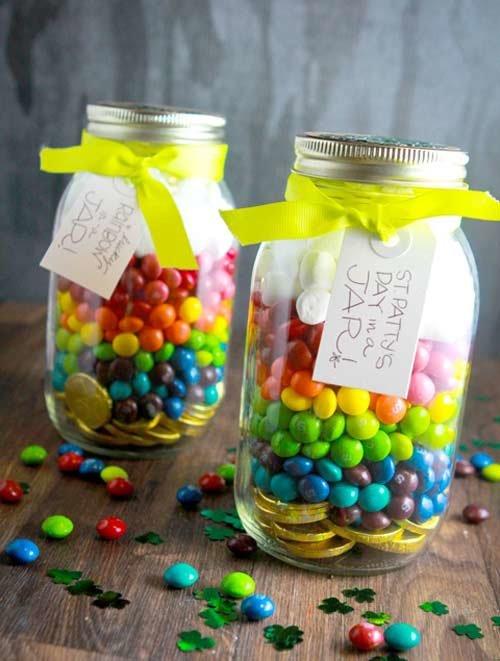 Подарки своими руками баночка с конфетами