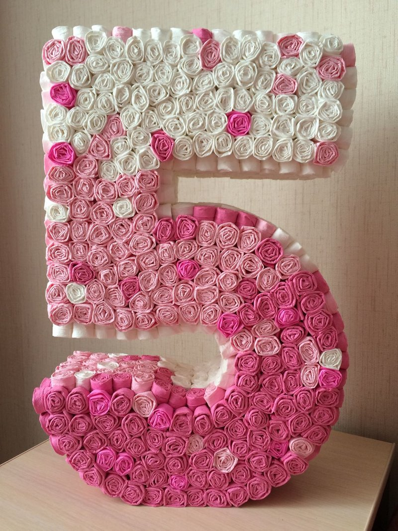Объемные цифры своими руками на день рождения фото