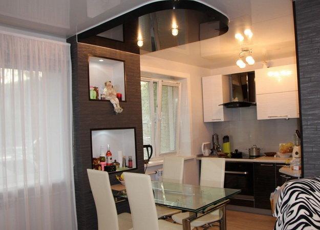 Дизайн кухни с залом вместе