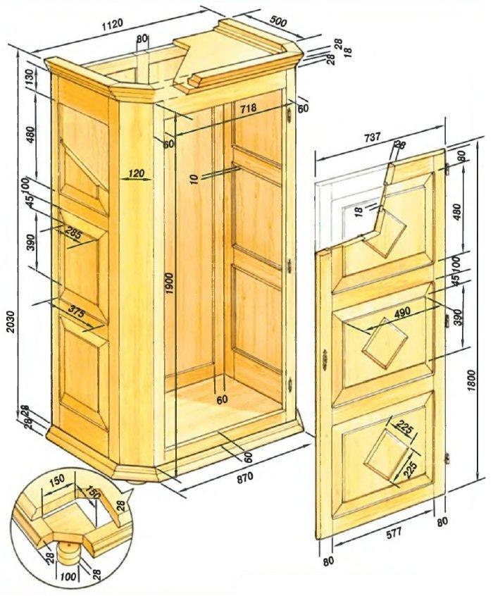 Шкаф из дерева своими руками схемы и чертежи