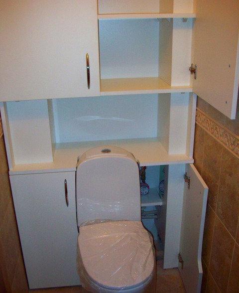 Как своими руками сделать шкафчик в туалете 24