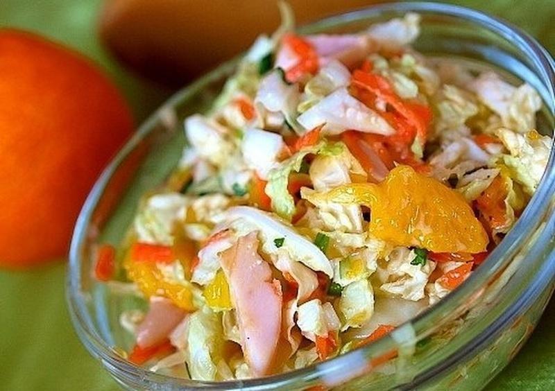 Салат из пекинской капусты с апельсином
