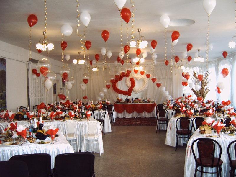 Оформления зала для свадьбы