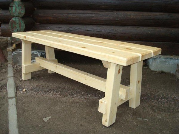 Деревянные скамейки своими руками для бани 81