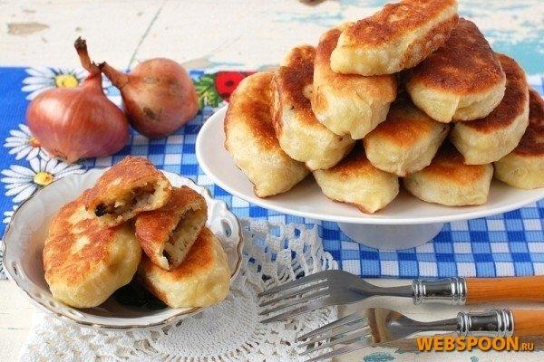 Фото рецепт пирога с грибами и луком
