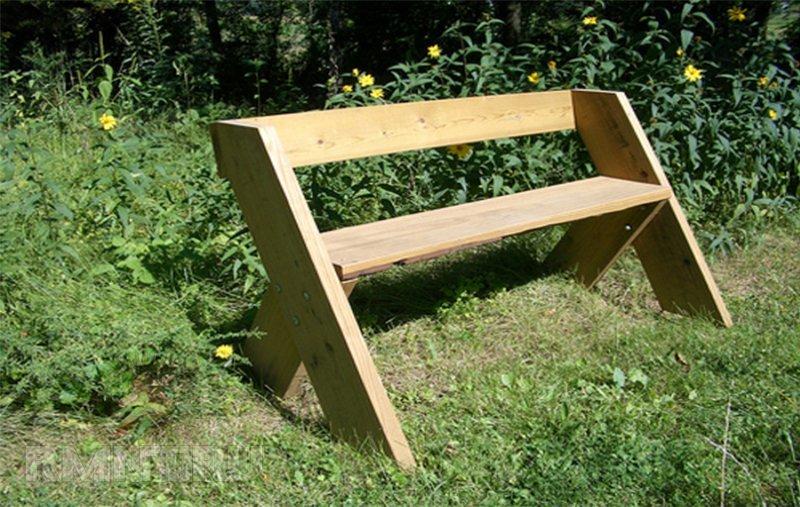 Как своими руками сделать садовую скамейку