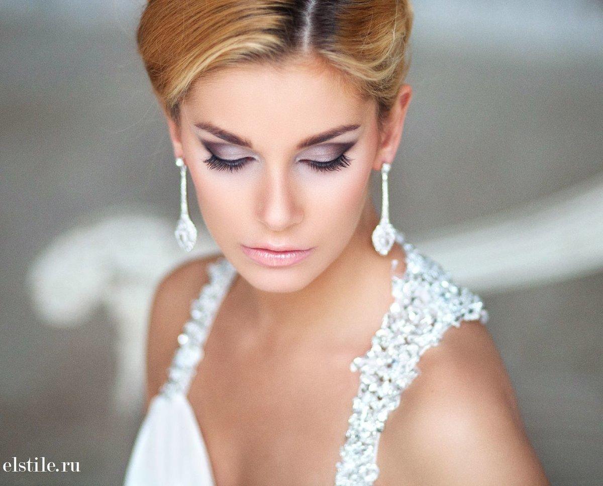 Свадебный макияж фото блондинки с карими глазами фото