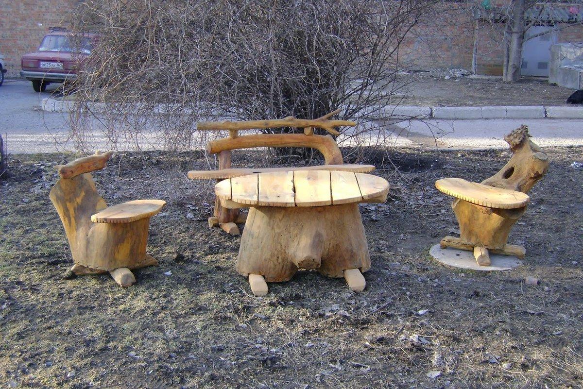 Фото садовых поделок из дерева