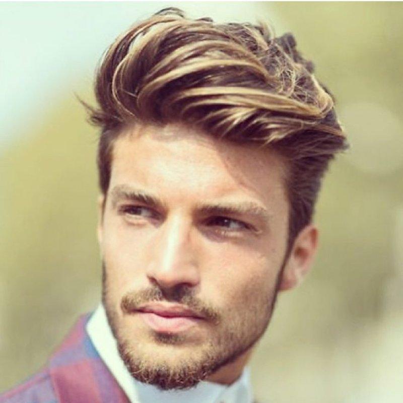 Мужские стрижки на темные волосы