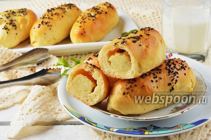 Пирожки с сосиской и картошкой в духовке пошаговый рецепт с