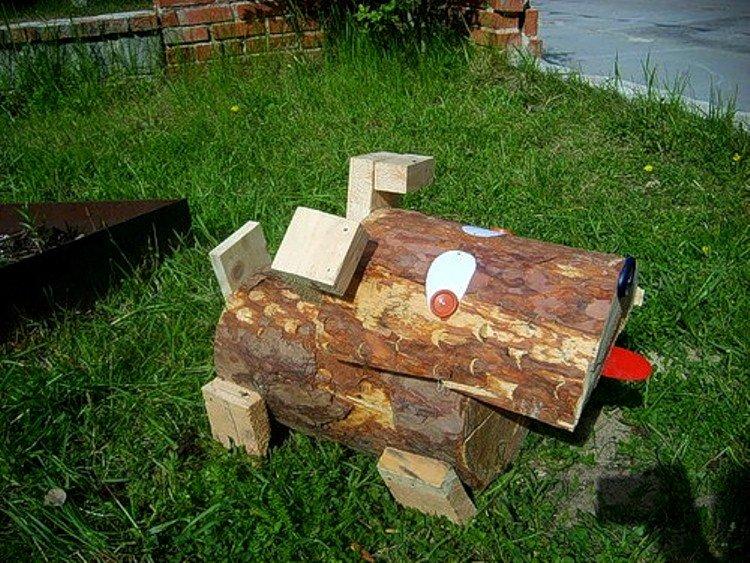 Поделки из дерева для огорода