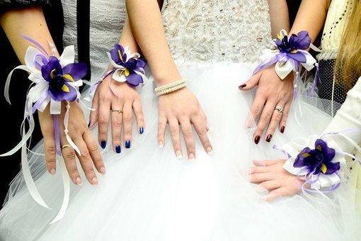 Как сделать повязку на руку подружкам невесты своими руками 63