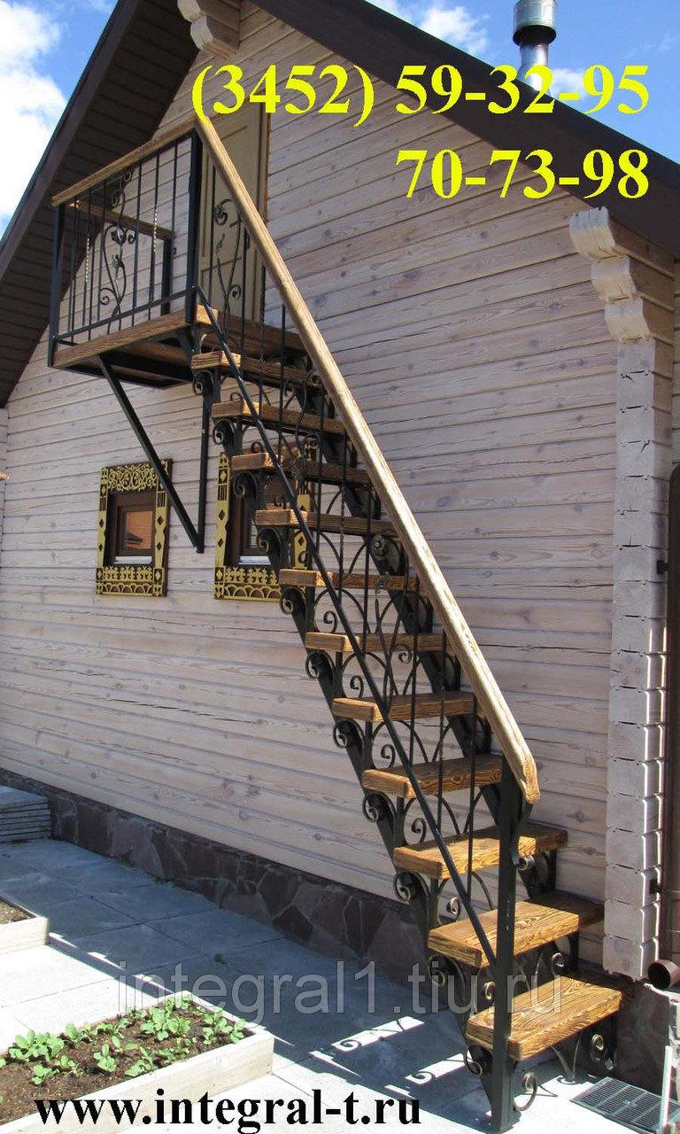 Как сделать наружную лестницу на второй этаж фото
