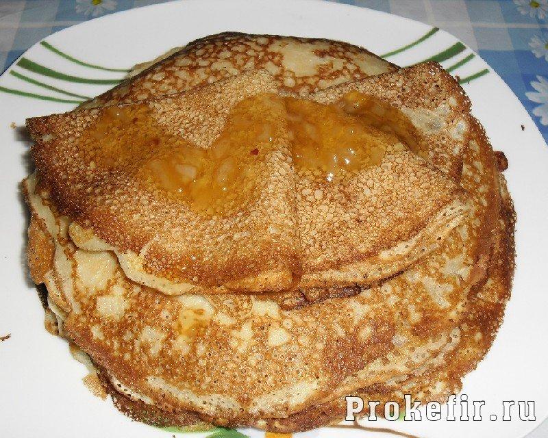 Рецепт блинов с дырочками на кефире и молоке рецепт с пошагово