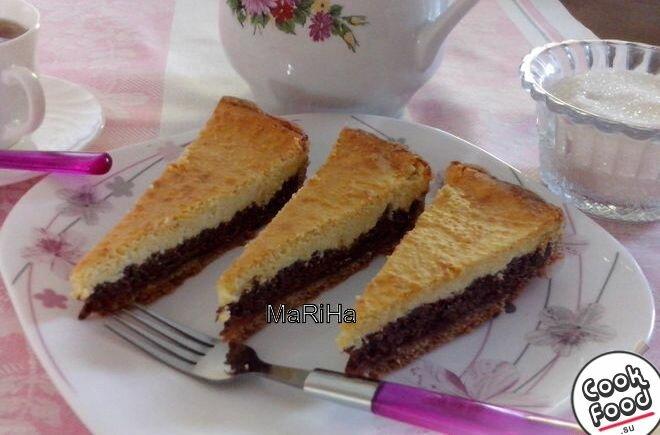 Творожный пирог с вареньем в духовке рецепт с