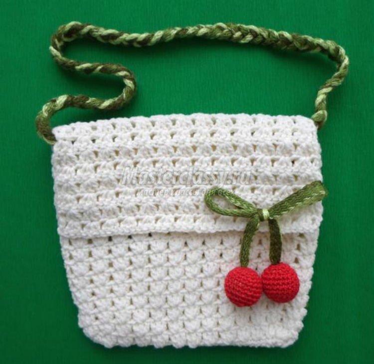 Вязаная сумка своими руками для начинающих