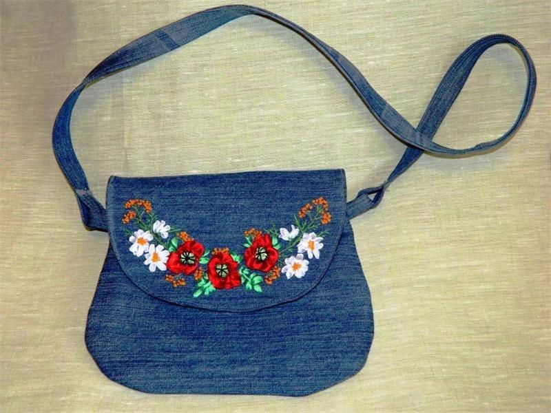Джинсовая маленькая сумочка своими руками 49