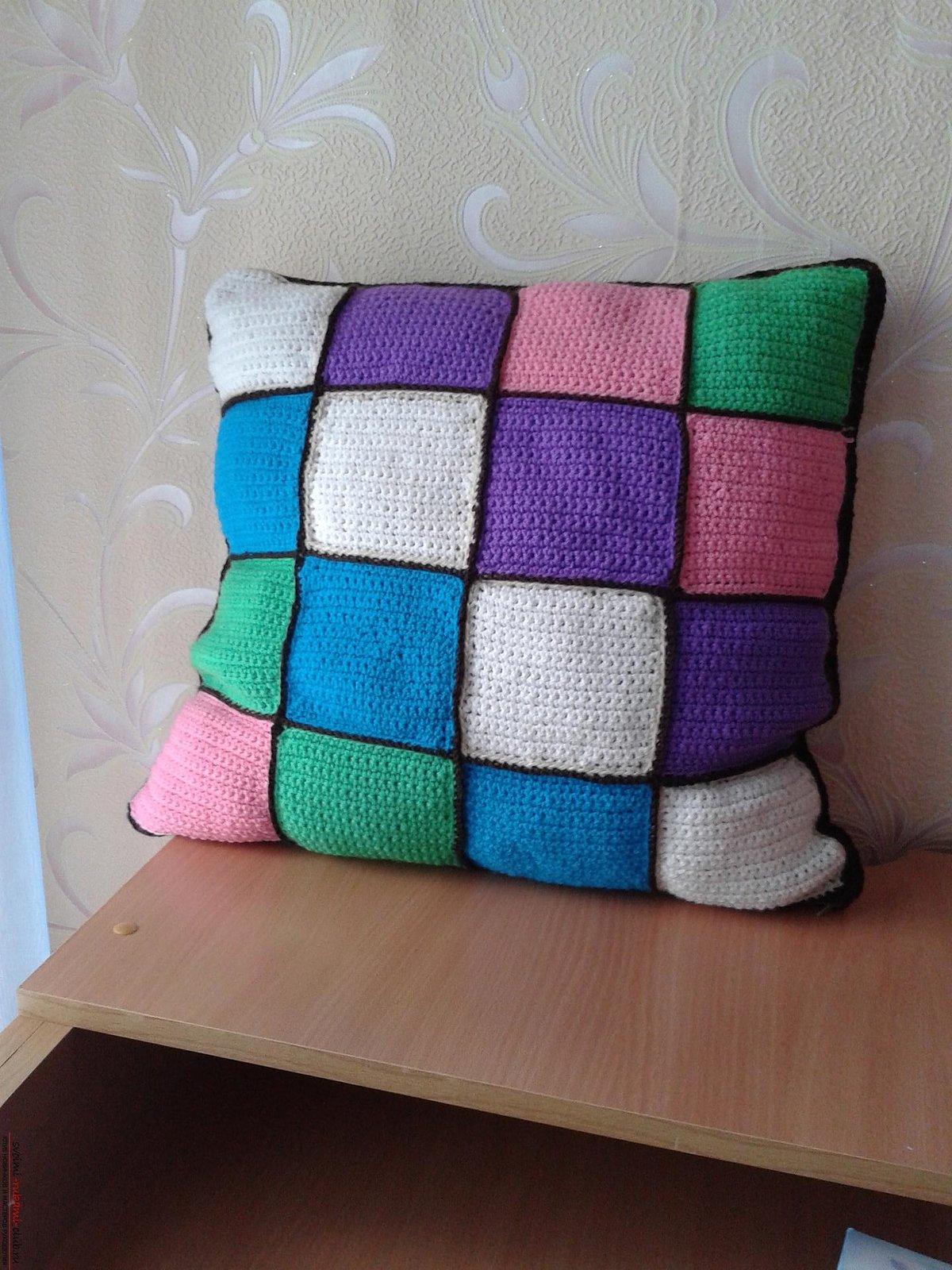 Подушка из квадратов сшить 151