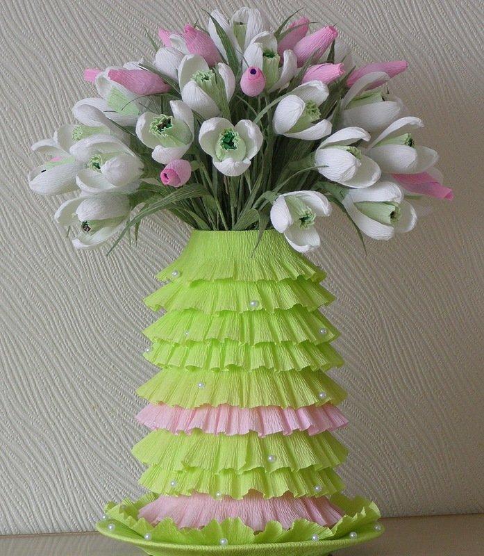 Своими руками ваза с цветами