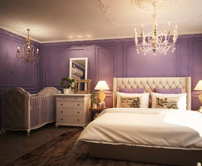 Дизайн спальни и детской кроватки 28