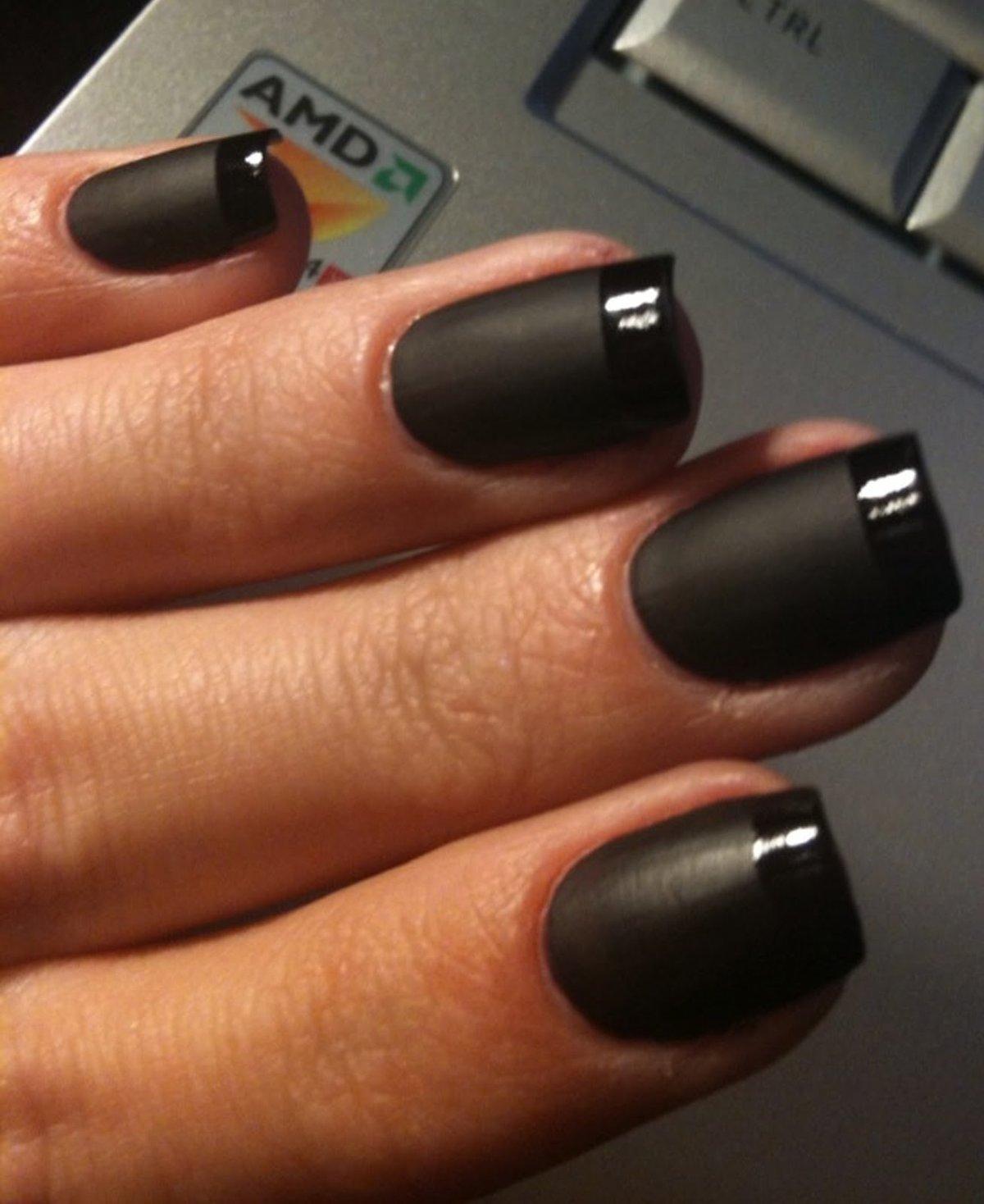 Ногти фото тёмные цвета