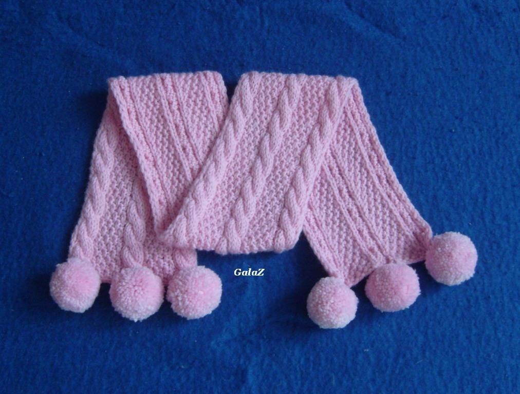 Вязание на спицах шарф детский 494
