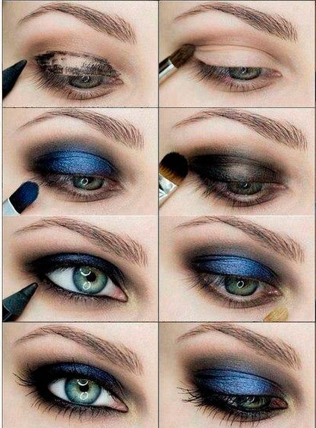 Макияж для серо-зелёных глаз и русых волос пошагово фото