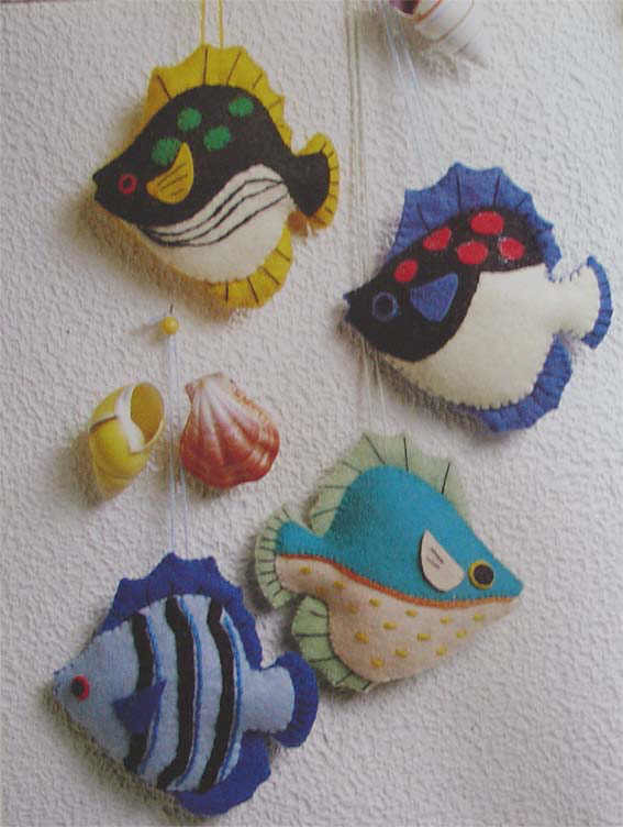 Поделка рыбка своими руками из ткани 391