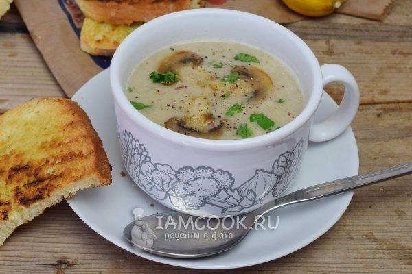 Как сварить грибной суп из шампиньонов пюре