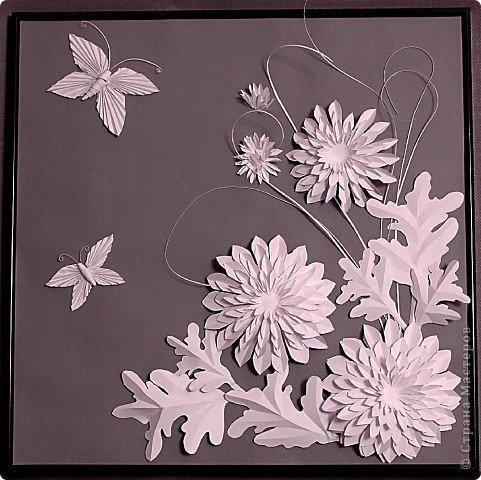 Поделки из белой бумаги цветы своими руками
