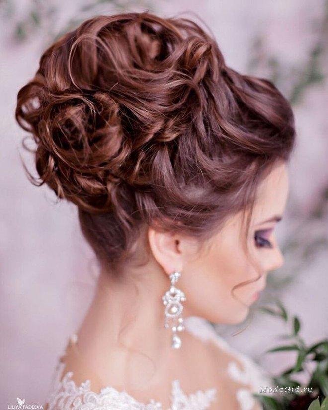 Красиво собранные свадебные прически