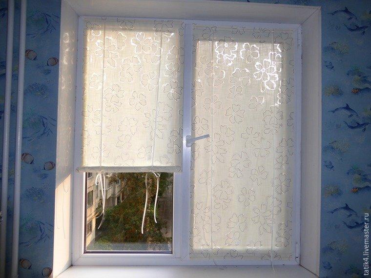 371Шторы на пластиковое окно на липучке своими руками