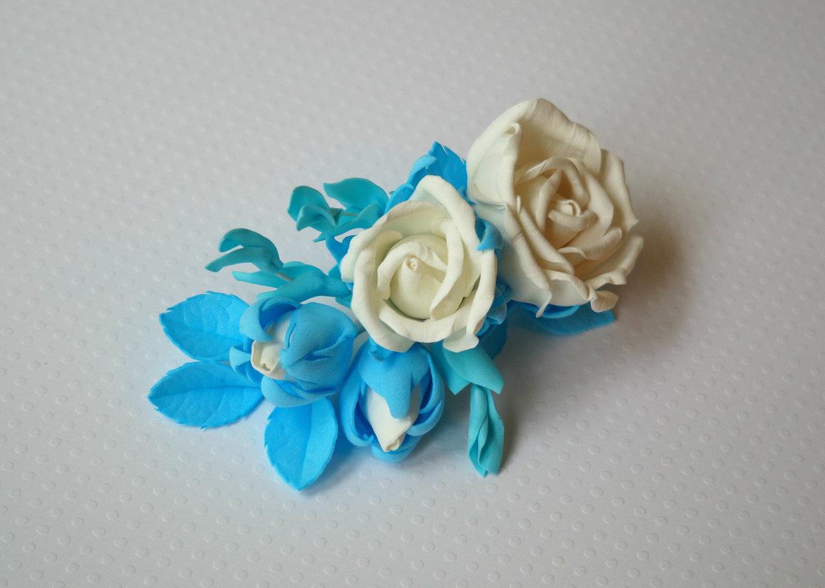 Цветы из фоамирана для заколки своими руками 96