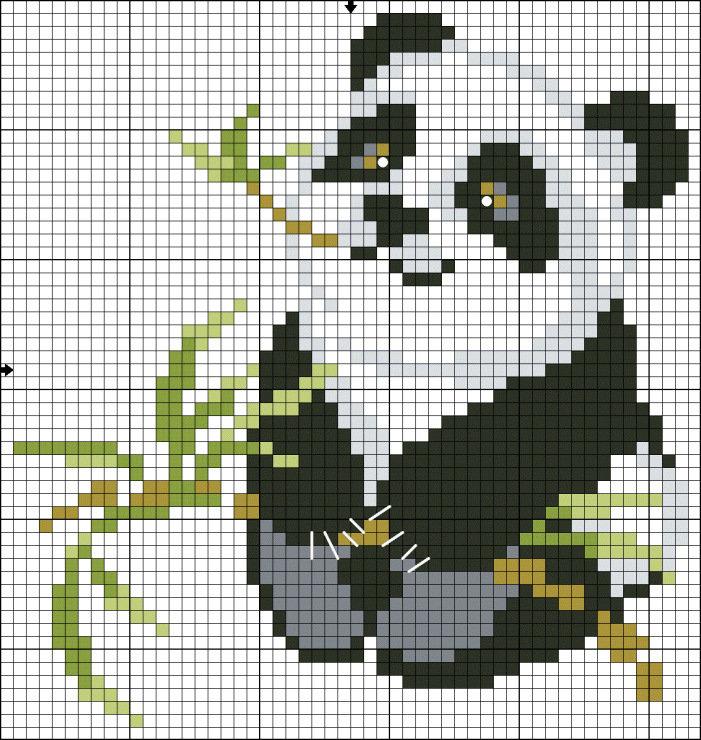 Вышивание крестиком панды
