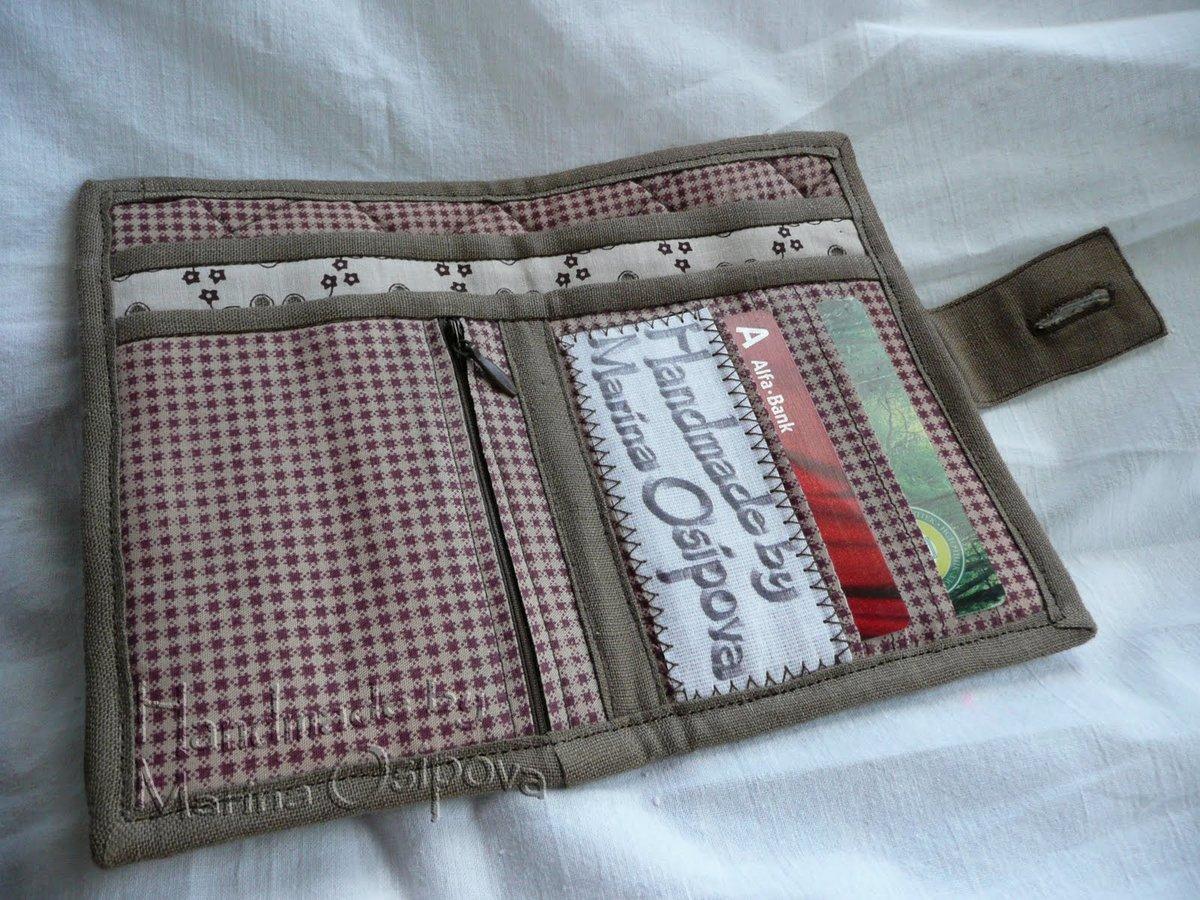 Бумажник из ткани своими руками 64
