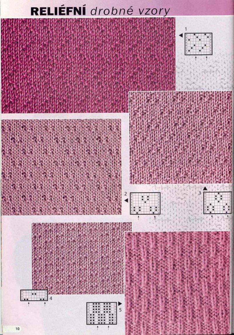 Вязание на спицах рельефный узор схема
