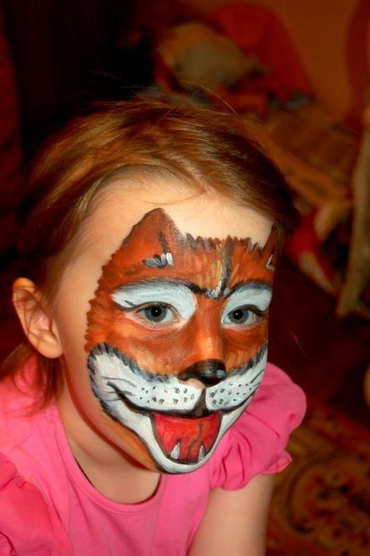 Раскраска на лице на новый год